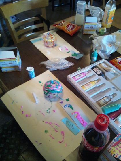 親子ふれあい交流事業「お絵描きワークショップ」
